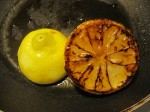 rostad, karamelliserad citron